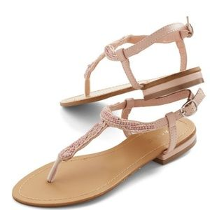 Modcloth Bamboo Bead Your Best Self Sandal